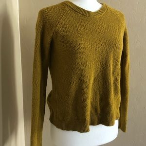 Green open back Madewell sweater